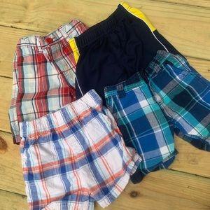 Boys 24 month shorts lot athletic plaid Levi's